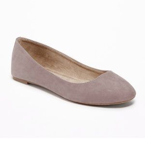 Sueded Ballet Flats